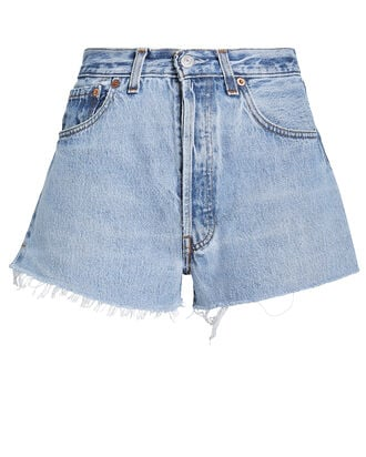 The Cut-Off Denim Shorts, INDIGO, hi-res