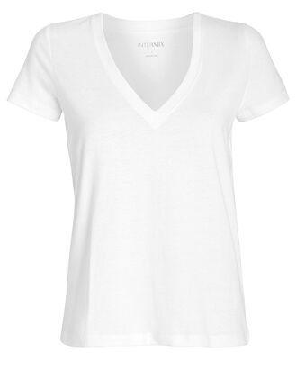 Classic V-Neck Jersey T-Shirt, WHITE, hi-res