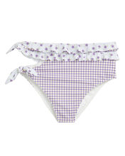 Boardwalk Ruffle Bikini Bottom, PURPLE-LT, hi-res