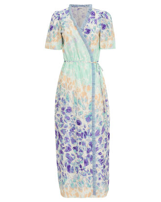 Erica Floral Midi Dress, BLUE/PURPLE, hi-res