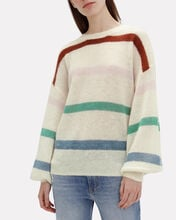 Lydia Striped Oversized Sweater, WHITE/STRIPES, hi-res