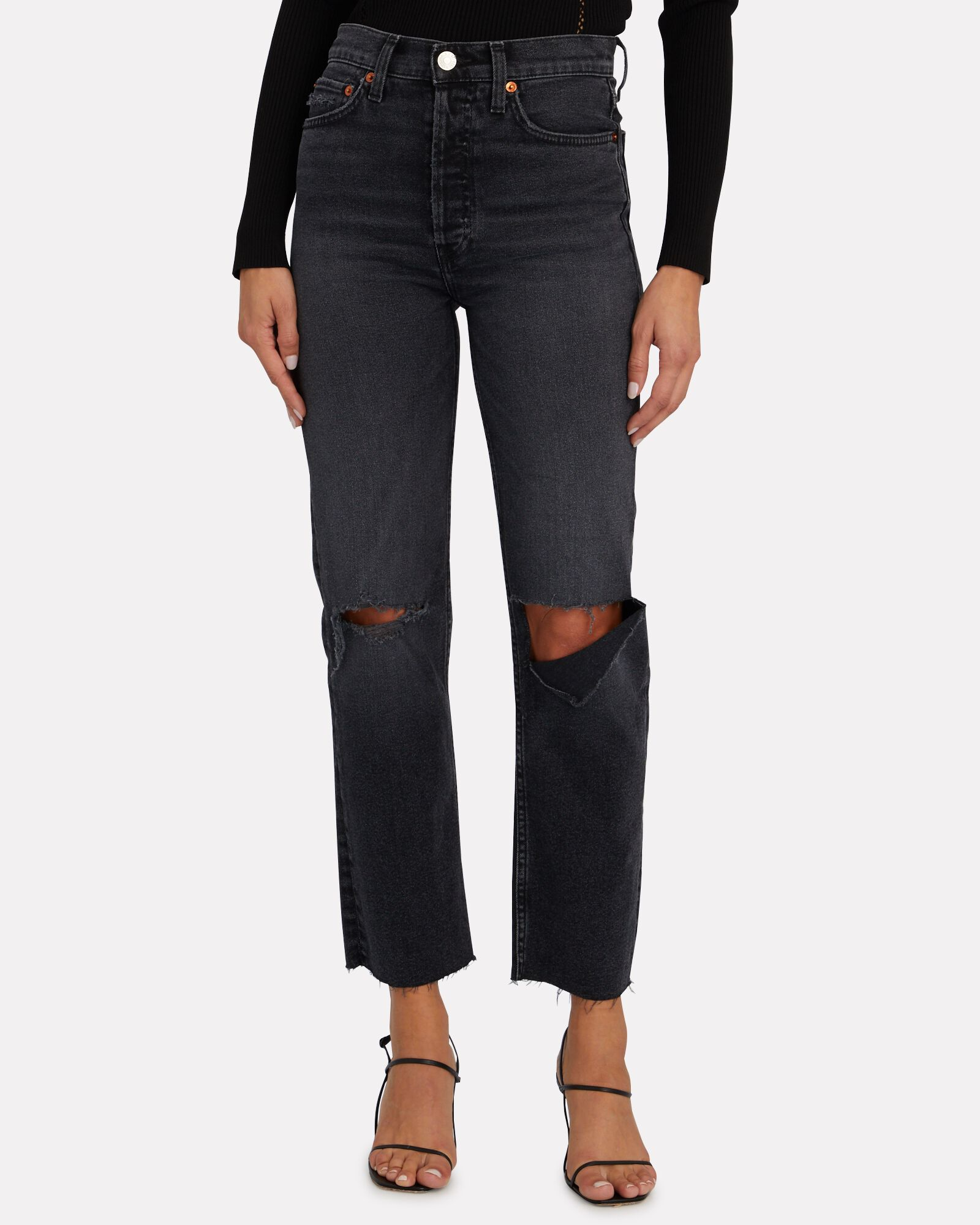 70s High-Rise Stove Pipe Jeans, FADED COAL, hi-res