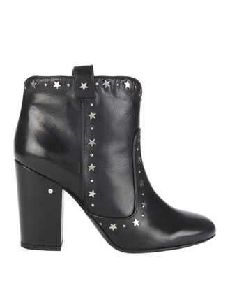 Pete Star Leather Booties, BLACK, hi-res