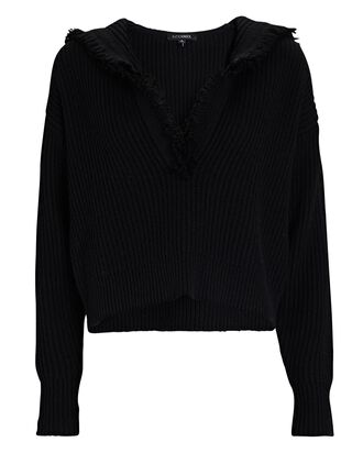 Caitlin Hooded Wool-Cashmere Sweater, BLACK, hi-res