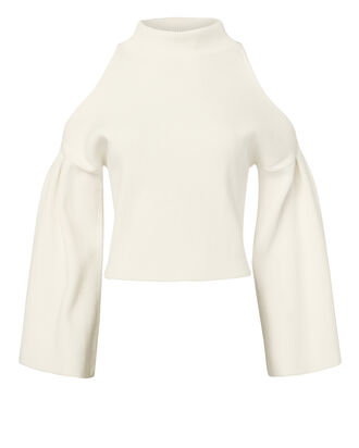 Trinity Cold Shoulder Sweater, IVORY, hi-res