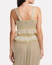 Gipbus Ruffled Tie Top, BEIGE/METALLIC, hi-res