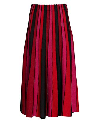 Yuma Pleated Knit Midi Skirt, MULTI, hi-res