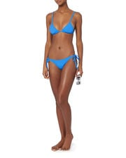 Charlotte Blue Tie Triangle Bikini Top, BLUE, hi-res