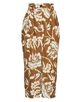 Florence Floral Midi Pencil Skirt, MULTI, hi-res