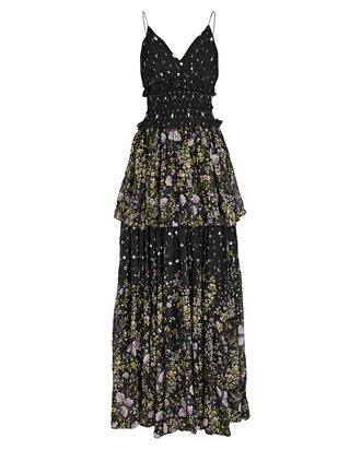 Mariposa Sleeveless Tiered Gown, MULTI, hi-res