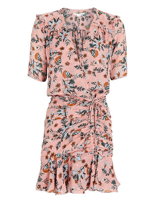 Dakota Floral Mini Dress, LIGHT PINK, hi-res