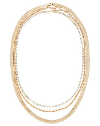 Le Brunch Layered Chain Necklace, GOLD, hi-res
