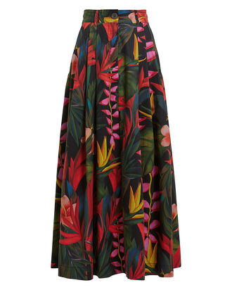 Tulay Floral Cotton-Blend Skirt, ZANZI FLORAL PRINT, hi-res