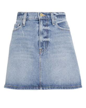 Le Mini Majorelle Denim Skirt, LIGHT BLUE DENIM, hi-res