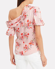 Betty Off The Shoulder Top, PINK/RED, hi-res