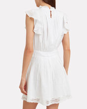 Lace Pintuck Dress, WHITE, hi-res