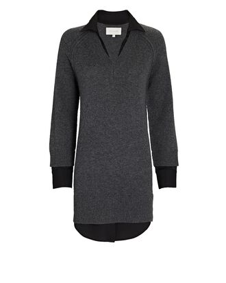Looker Wool-Cashmere Sweater Dress, GREY, hi-res