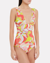 Rivera One-Piece Swimsuit, PINK/GREEN, hi-res