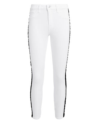 Margot Tuxedo High-Rise Ankle Skinny Jeans, WHITE/BLACK, hi-res