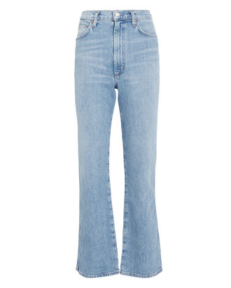 Pinch Waist Kick Jeans, LIGHT INDIGO DENIM, hi-res