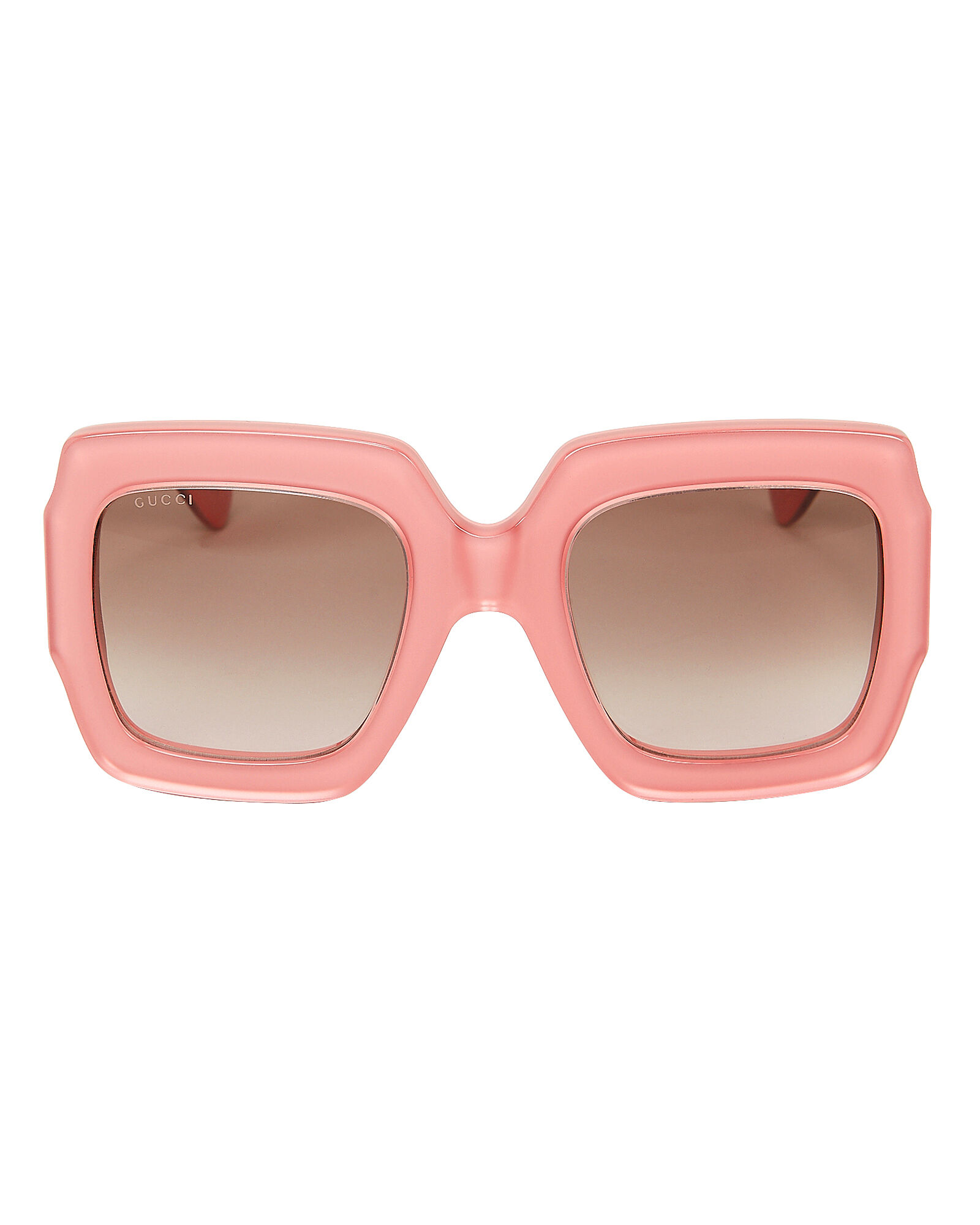 Oversized Pink Rectangle Sunglasses, PINK, hi-res