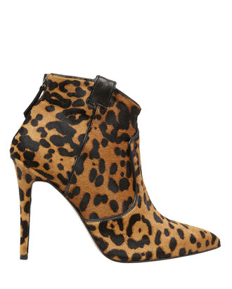 Loretta Leopard Calf Hair Booties, LEOPARD, hi-res