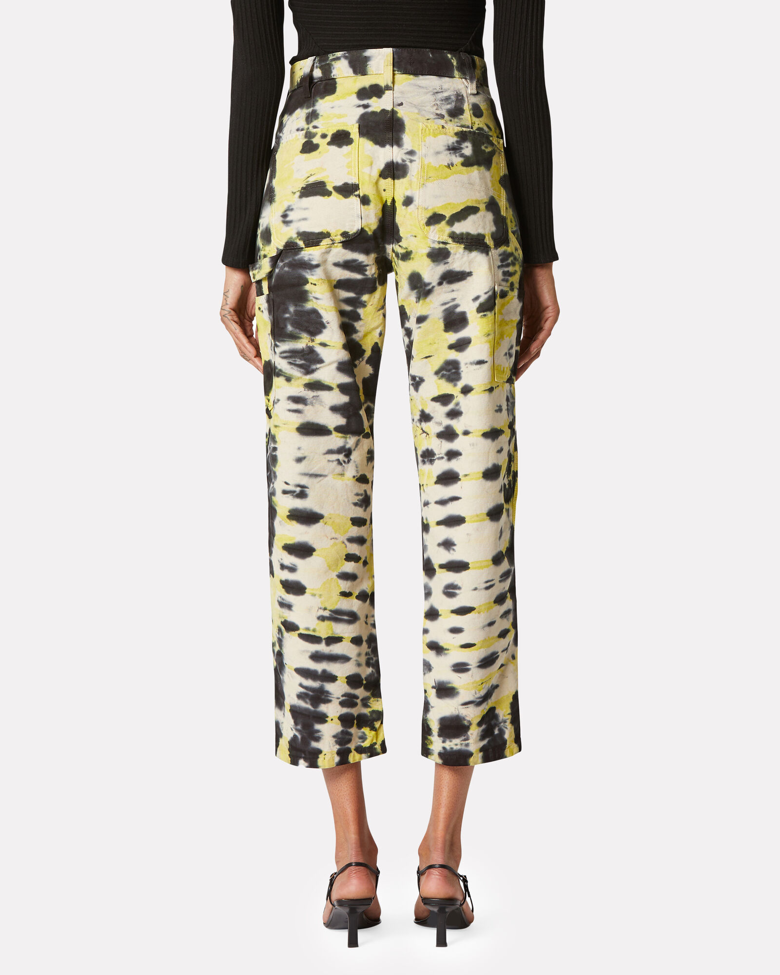 Carpenter Tie-Dye Jeans, BLACK/YELLOW/BEIGE, hi-res