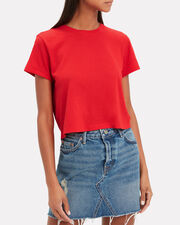 1950s Boxy Red T-Shirt, RED-MED, hi-res