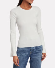 Ellie Knit Crewneck Top, WHITE, hi-res