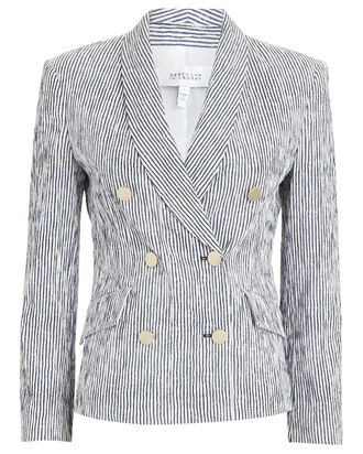 Myla Striped Double-Breasted Blazer, MULTI, hi-res
