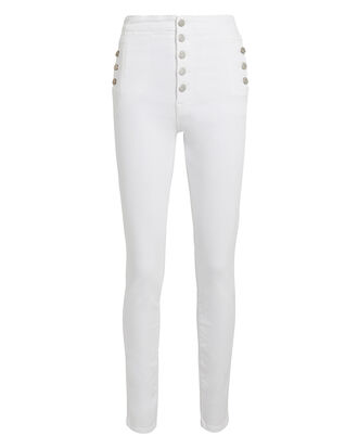 Natasha Sky High Skinny Jeans, WHITE DENIM, hi-res