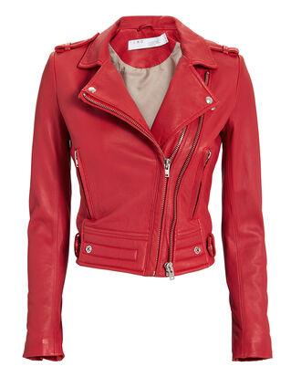 Luiga Red Leather Jacket, RED, hi-res