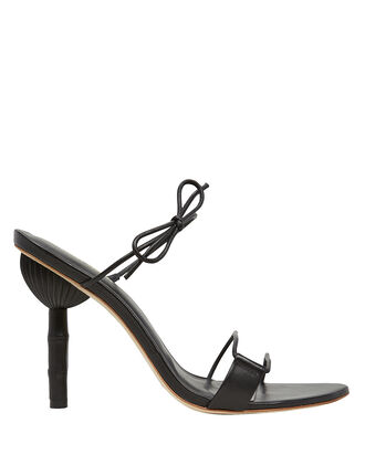 Malia Strappy Leather Sandals, BLACK, hi-res