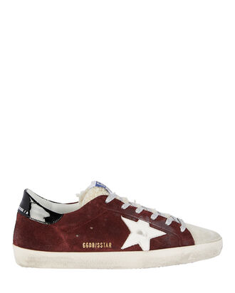Superstar Suede Low-Top Sneakers, BURGUNDY, hi-res