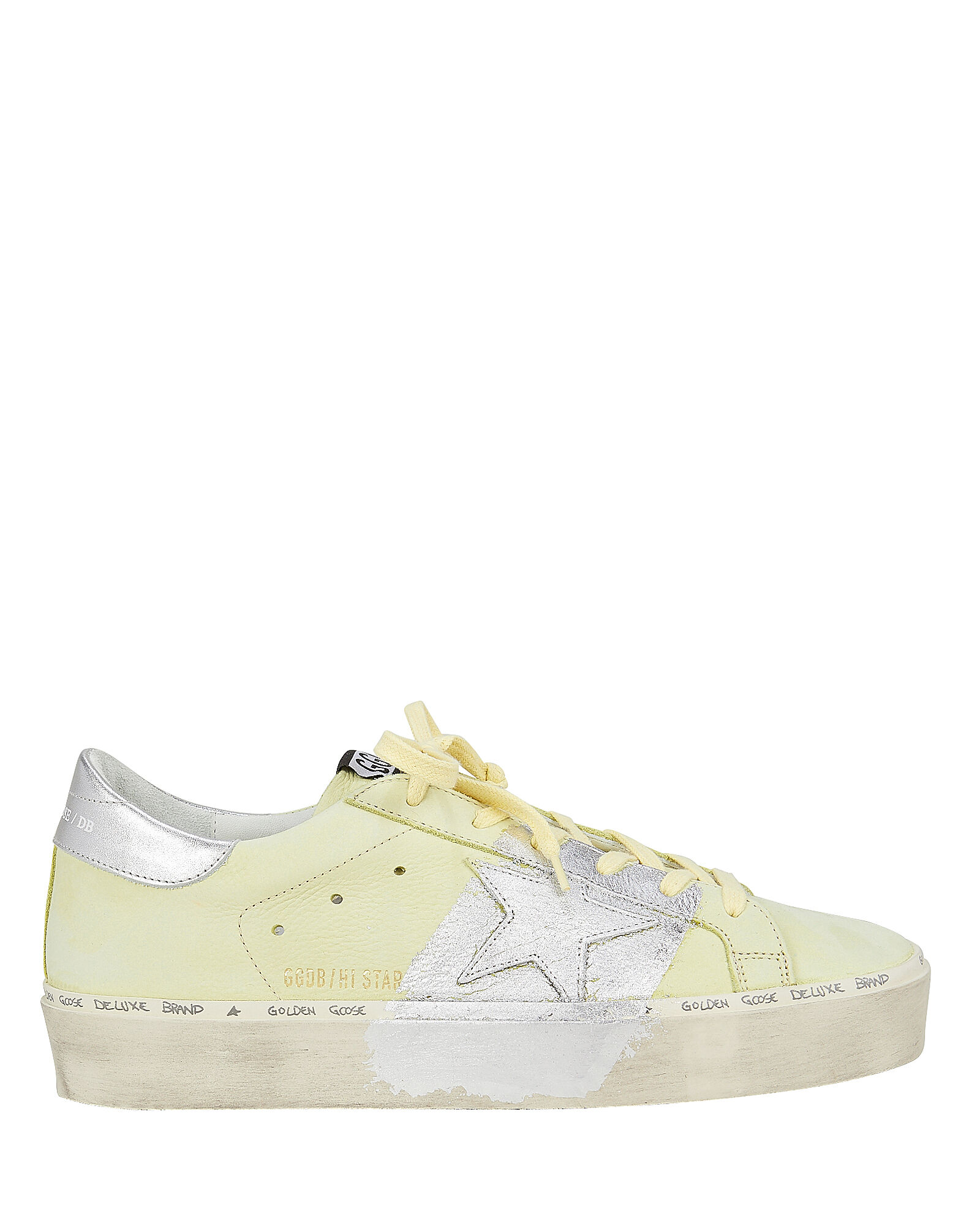 Hi Star Yellow Leather Low-Top Sneakers, YELLOW, hi-res