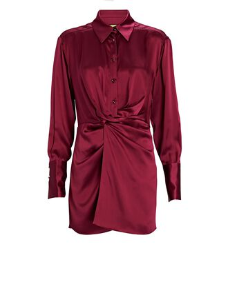 Matsu Mini Shirt Dress, RED-DRK, hi-res