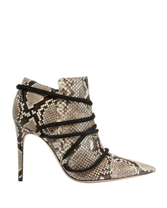Evelyn Python Booties, BEIGE/KHAKI, hi-res