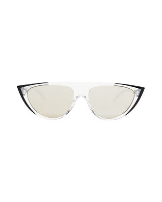 Miss J Clear Cat Eye Sunglasses, CLEAR, hi-res