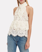 Jerome Lace Top, IVORY, hi-res
