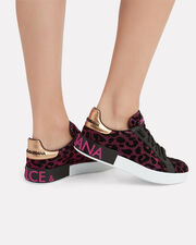 Leopard Low-Top Sneakers, BLACK/LEOPARD, hi-res