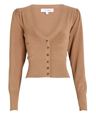 Nellie V-Neck Cardigan, BEIGE, hi-res