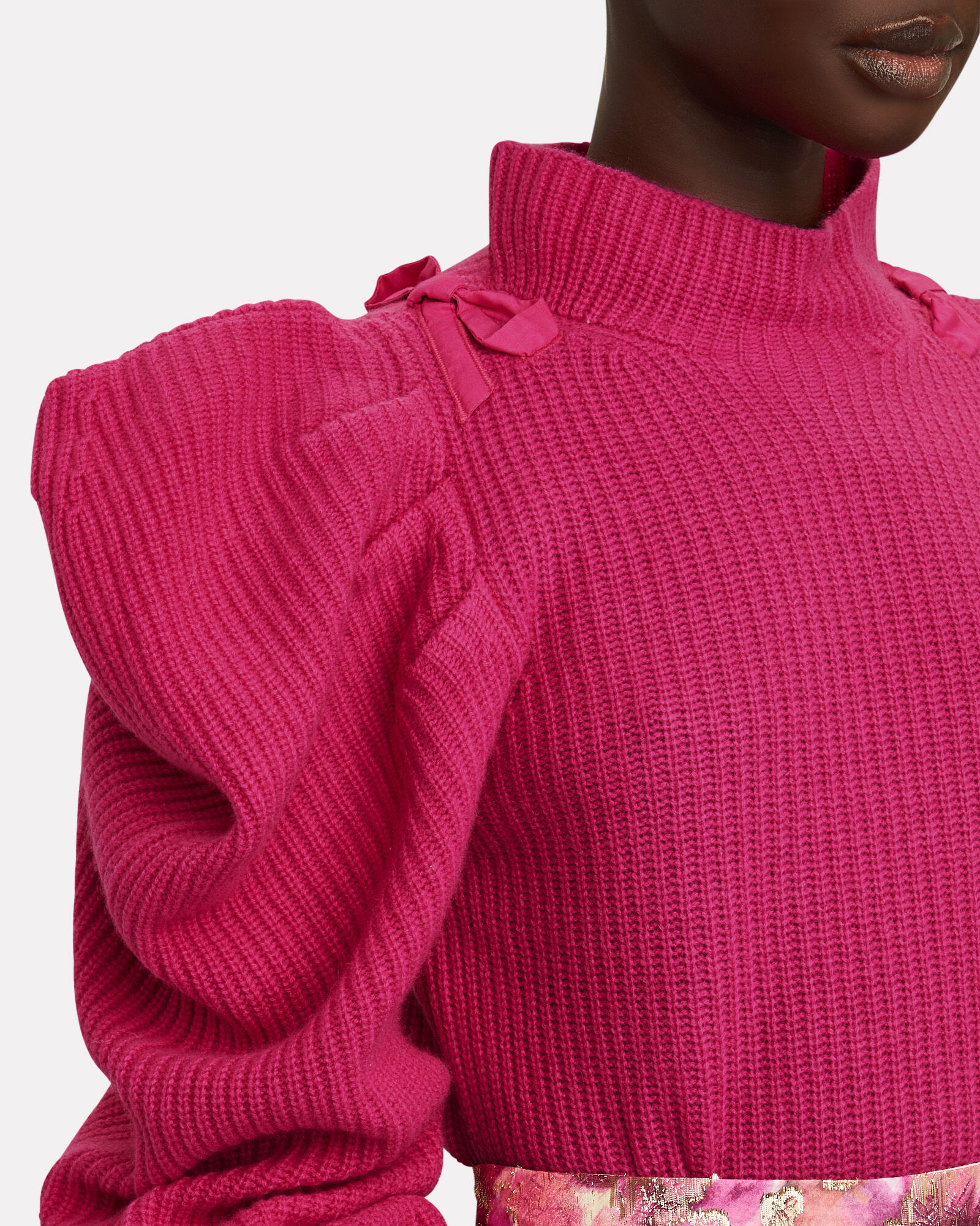 Potter Puff Sleeve Cashmere Sweater, PINK, hi-res