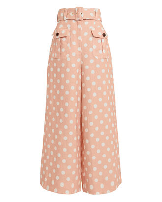 Corsage Safari Polka Dot Pants, PINK/WHITE, hi-res