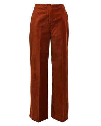 Caren Velvet Wide Leg Trousers, SIENNA, hi-res