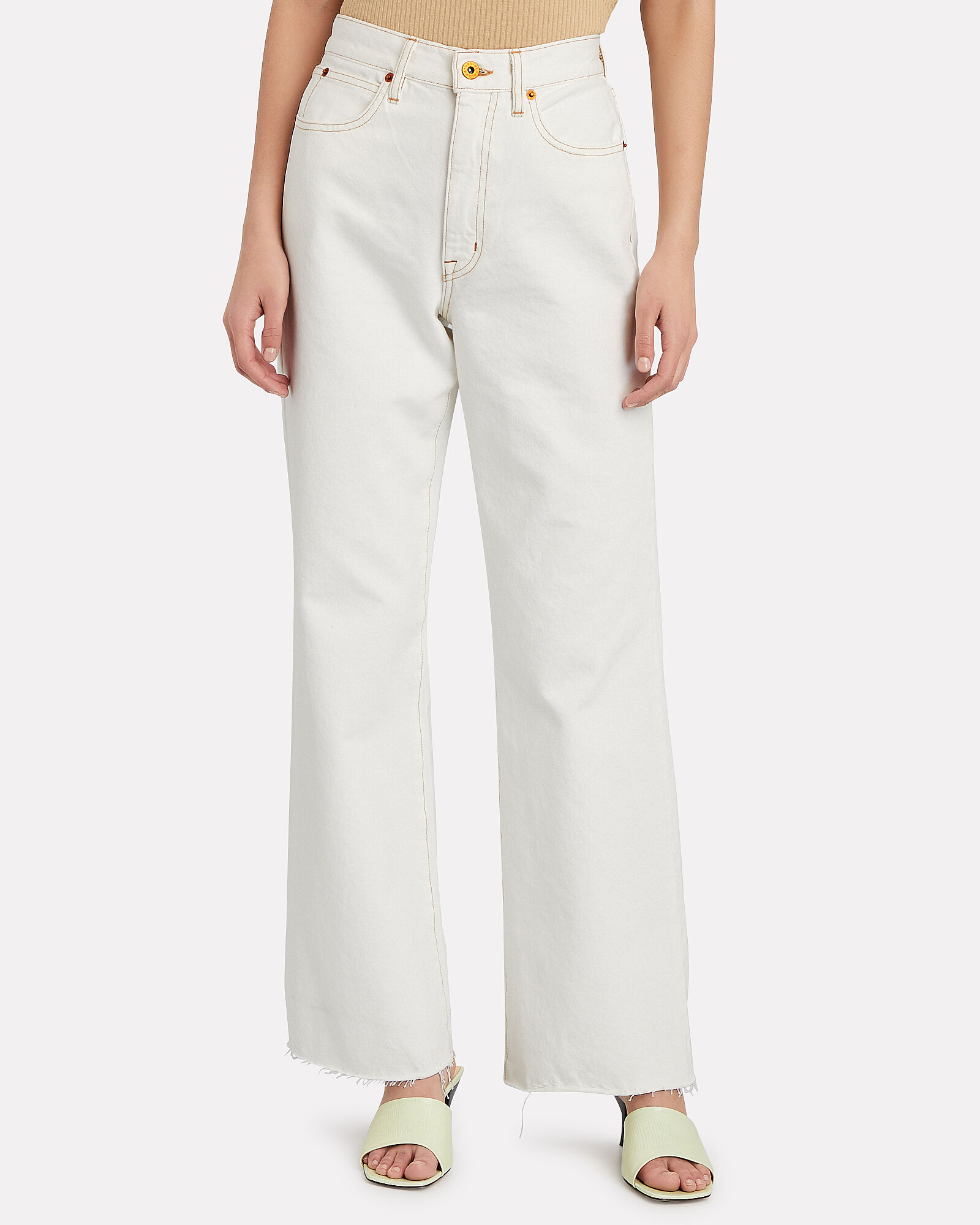 Grace High-Rise Ankle Jeans, WHITE, hi-res