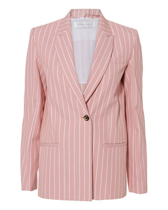 Pink Striped Tailored Blazer, PINK, hi-res
