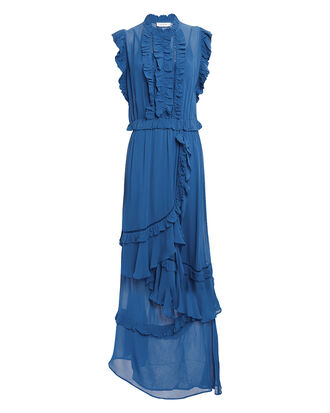 Adana Ruffled Maxi Dress, BLUE-MED, hi-res