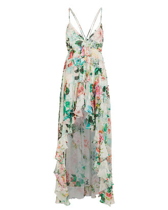 Isa Hi-Low Dress, WHITE/FLORAL, hi-res