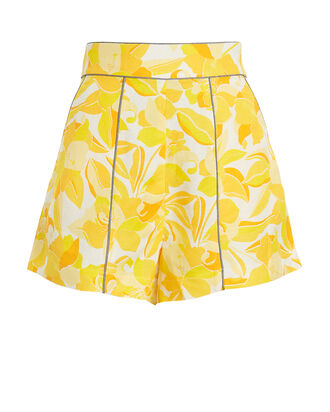 Rockpool Floral Shorts, YELLOW FLORAL, hi-res