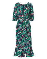 Olivia Midi Dress, GREEN, hi-res